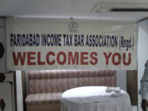 Faridabad Income Tax Bar Association Activities